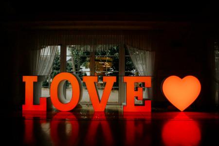Stół LOVE + Serce LED RGB